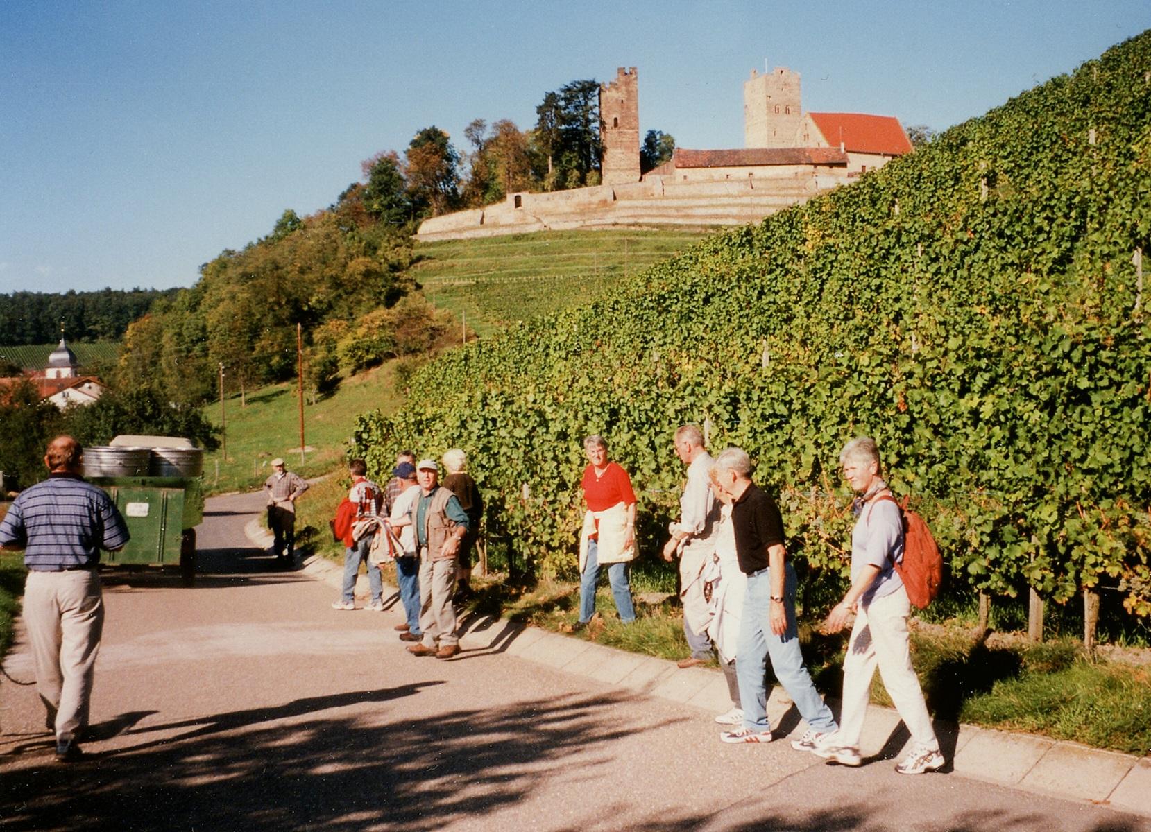 2001_10_10 Brackenheim, Wandern zur Burg Neipperg