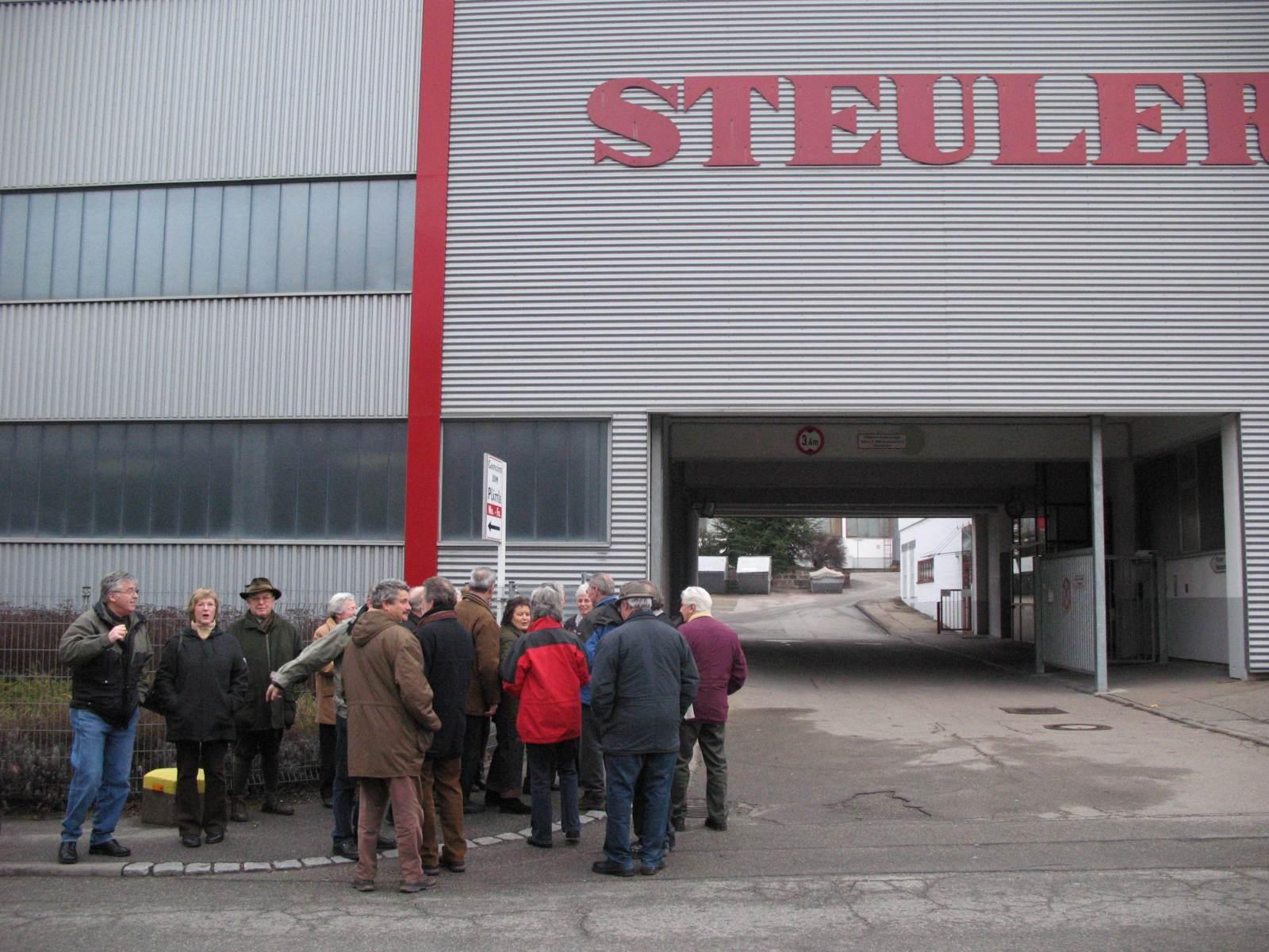 2007_02_14 Mühlacker, Werksbesichtigung bei Steuler
