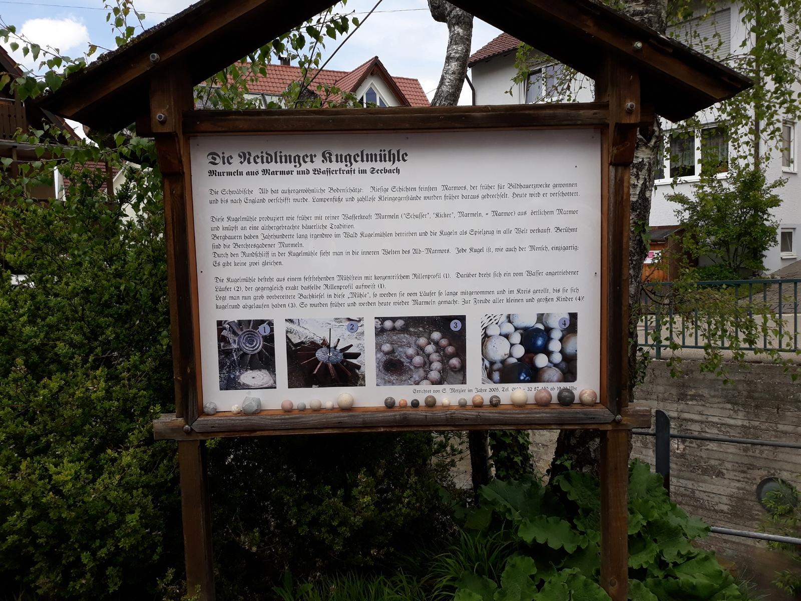 2019_05_07Neidlingen, Besuch der Kugelmühle