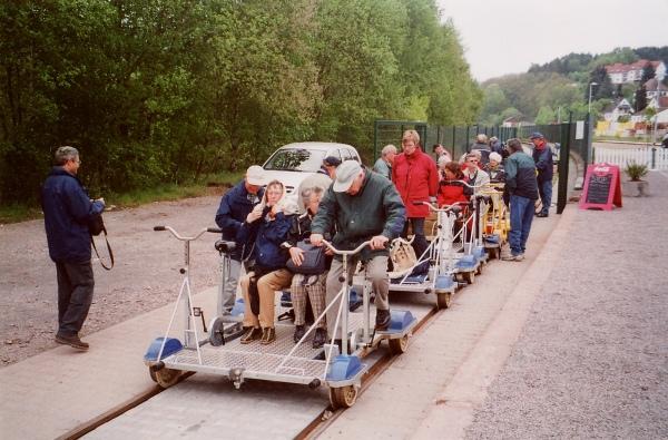 2004_05_13 Jahresausflug nach Meisenheim, Draisinenfahrt